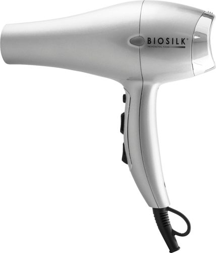 BioSilk - Titanium Professional Hair Dryer - Silver Ceramic technology2 heat settings2 speed settingsIonic technologyHot/cool heat switch