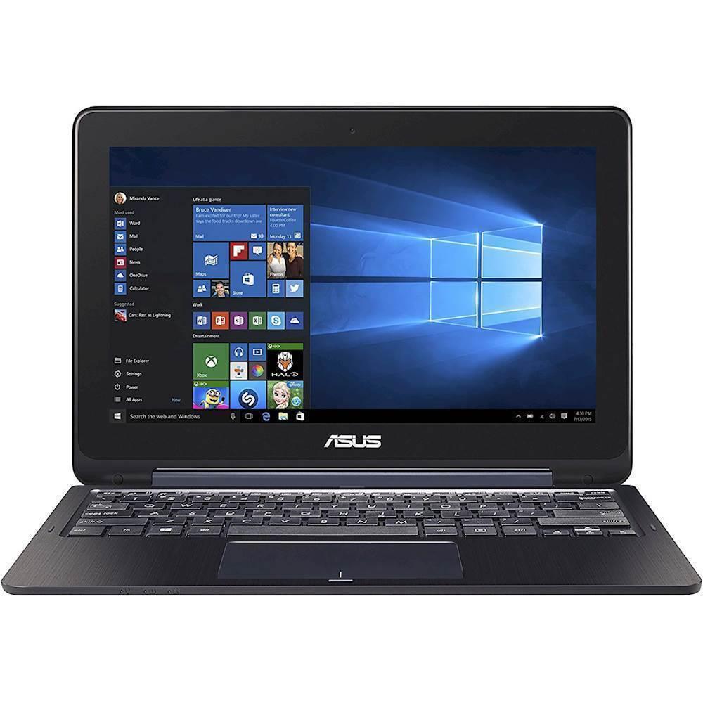 "Asus VivoBook Flip 2-in-1 11.6"" Touch-Screen Laptop Intel Celeron 4GB Memory 32GB eMMC Flash Memory Star Gray TP202NADH01T"