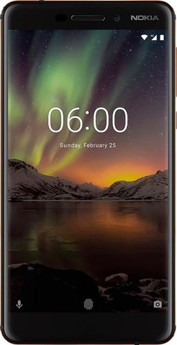 Nokia - 6.1 with 32GB Memory Cell Phone (Unlocked) - Copper Black