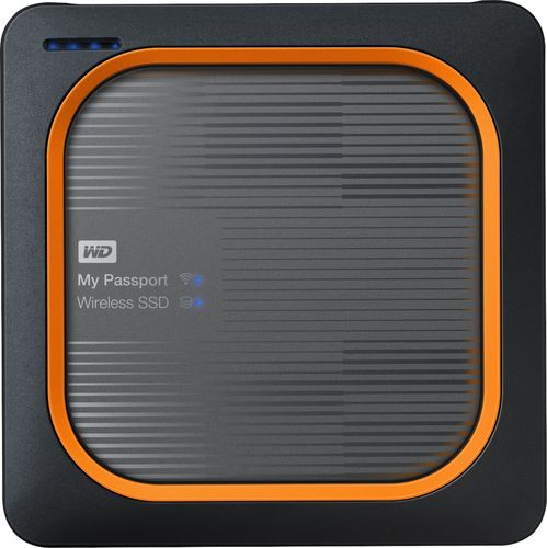 WD - My Passport Wireless SSD 1TB External Hard Drive - Black 6220248