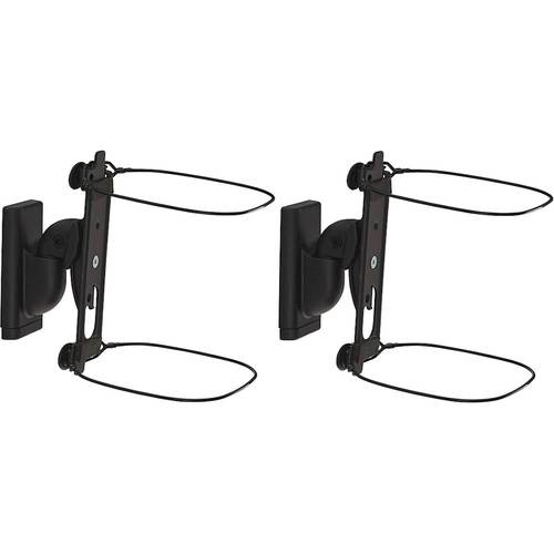 Sanus - Adjustable Wall Mount for Sonos ONE, PLAY:1 and PLAY:3 Speakers (Pair) - Black