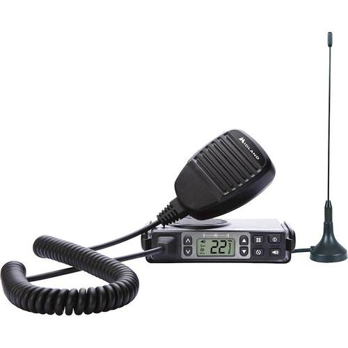 midland - mxt105, 5 watt gmrs micromobile two-way radio - up to 40 mile range walkie talkie, 142 privacy codes, noaa weather scan + alert (single pack) (black)