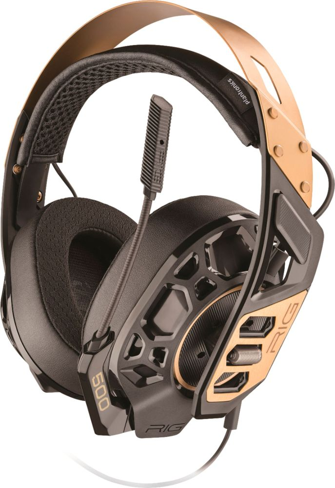 Plantronics RIG 500 PRO Wired Dolby Atmos Gaming Headset for PC Black/Copper RIG 500 PRO