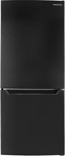 Insignia™ - 9.2 Cu. Ft. Bottom-Freezer Refrigerator - Black