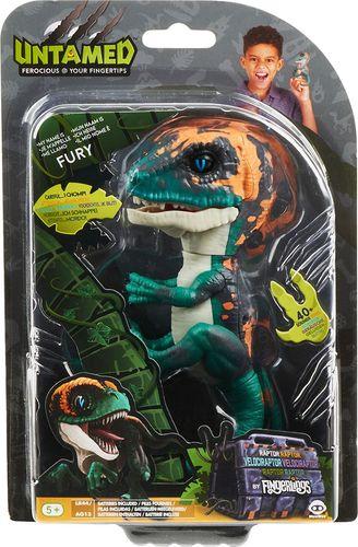 WowWee - Untamed Raptor by Fingerlings Fury Velociraptor - Blue