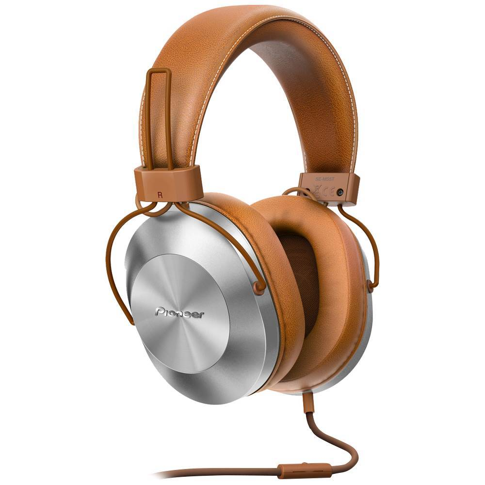 Pioneer SE MS5T Over-the-Ear Headphones Brown SEMS5TT