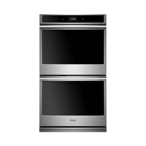 Whirlpool 30 in. Smart Double Electric Wall Oven with True Convection Cooking in Fingerprint Resistant Stainless Steel