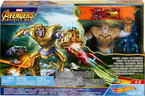 Hot Wheels - Marvel Avengers vs Thanos Showdown Play Set - Green/Orange/Gold/Gray 6230718