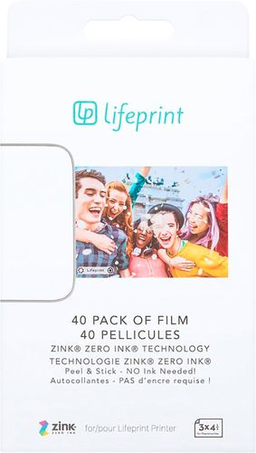 Lifeprint Photo Paper 3x4.5 - Sticky Back 40 Pack