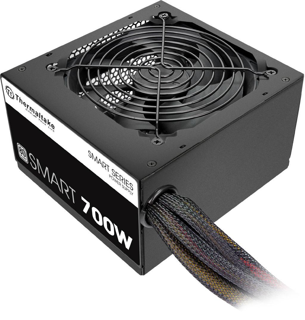 Thermaltake SMART 700W ATX12V 2.3 80 Plus Power Supply Black PS-SPD-0700NPCWUS-W