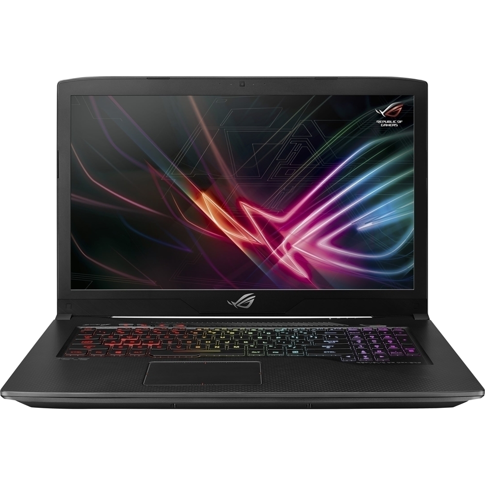 "Asus ROG Strix Scar Edition 17.3"" Laptop Intel Core i7 16GB Memory NVIDIA GeForce GTX 1050 Ti 1TB SSHD + 128GB SSD Black GL703GEES73"