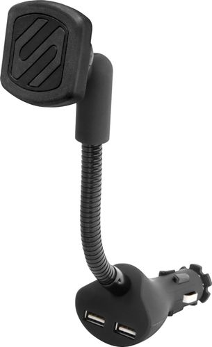 Scosche - MagicMOUNT Power Car Holder/Charger for Mobile Phones - Black