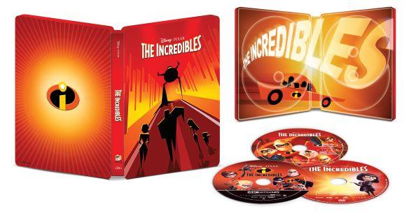 The Incredibles [SteelBook] [4K Ultra HD Blu-ray/Blu-ray] [Only @ Best Buy] [2004] 6234451