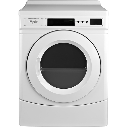 Whirlpool - 6.7 Cu. Ft. 3-Cycle Commercial Electric Dryer 3 drying programs; front loading type