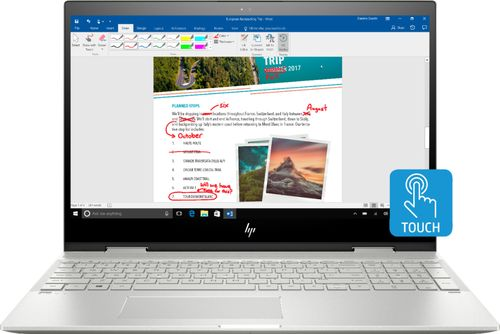 """HP - ENVY x360 2-in-1 15.6"""" Touch-Screen Laptop - Intel Core i5 - 8GB Memory - 256GB Solid State Drive - HP Finish In Natural Silver"""