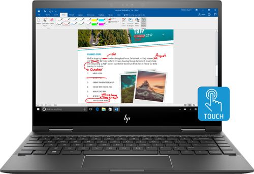 HP ENVY x360 13m-ag0001dx - Flip design - Ryzen 5 2500U / 2 GHz - Windows 10 Home - 8 GB RAM - 128 GB SSD NVMe - 13.3u0022 IPS touchscreen 1920 x 1080 (Full HD) Wi-Fi, Bluetooth