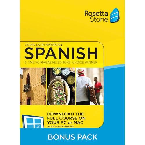 Rosetta Stone Bonus Pack...