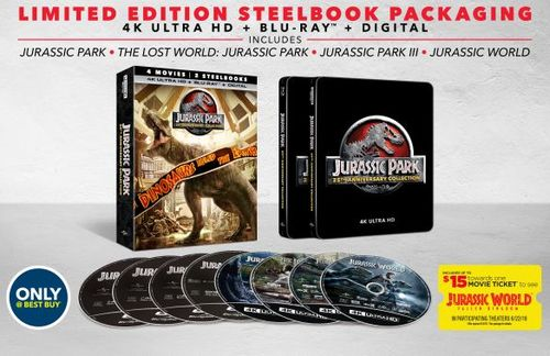Jurassic Park: 25th Anniversary Collection [SteelBook] [4K Ultra HD Blu-ray] [Only @ Best Buy] 6239556