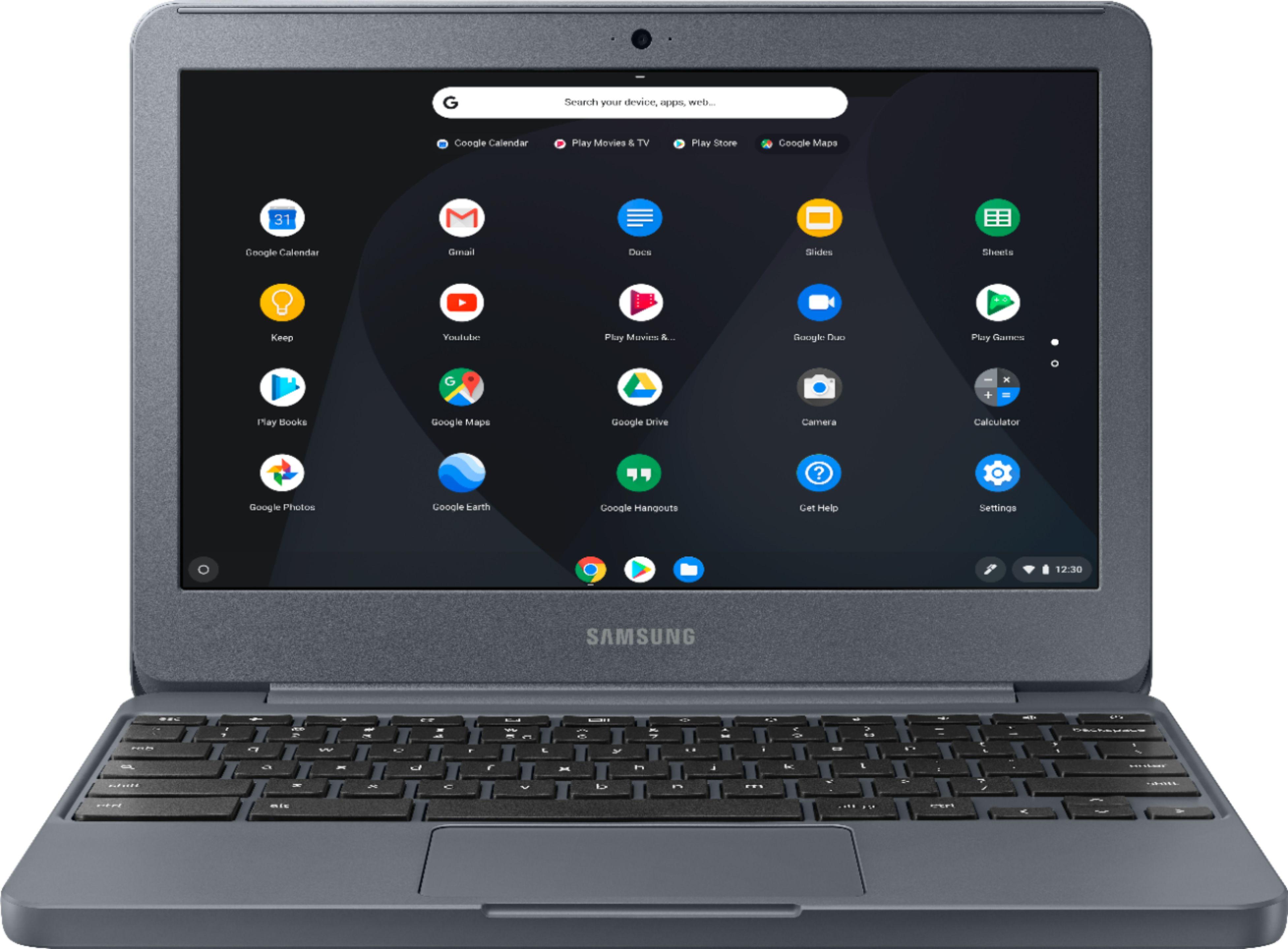 "Samsung Chromebook 3 Xe501c13-k02us, Intel Dual-core Celeron N3060, 11.6"" Hd, 4gb Ddr3, 32gb Emmc, Night Charcoal"