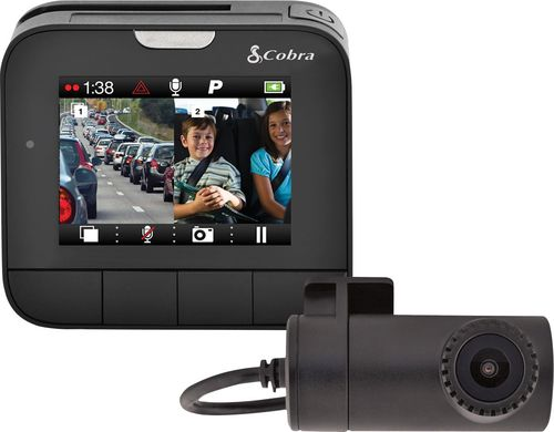 Cobra DASH2216D Drive HD™ Dual View 2-Channel Dash Cam with Driver Alert System