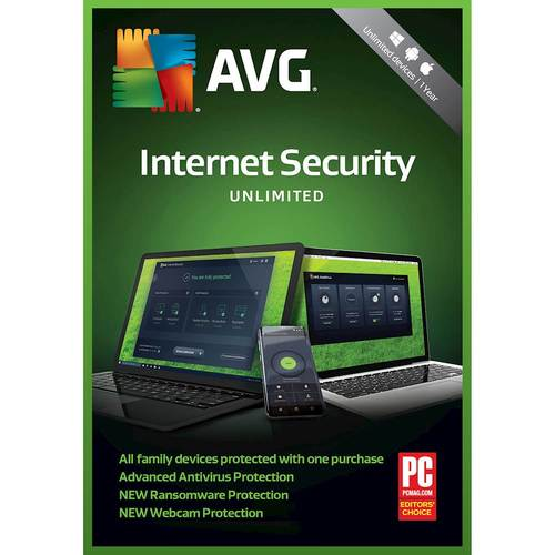 AVG Internet Security (Unlimited Devices) (1-Year Subscription) - Android|Mac|Windows [Digital]