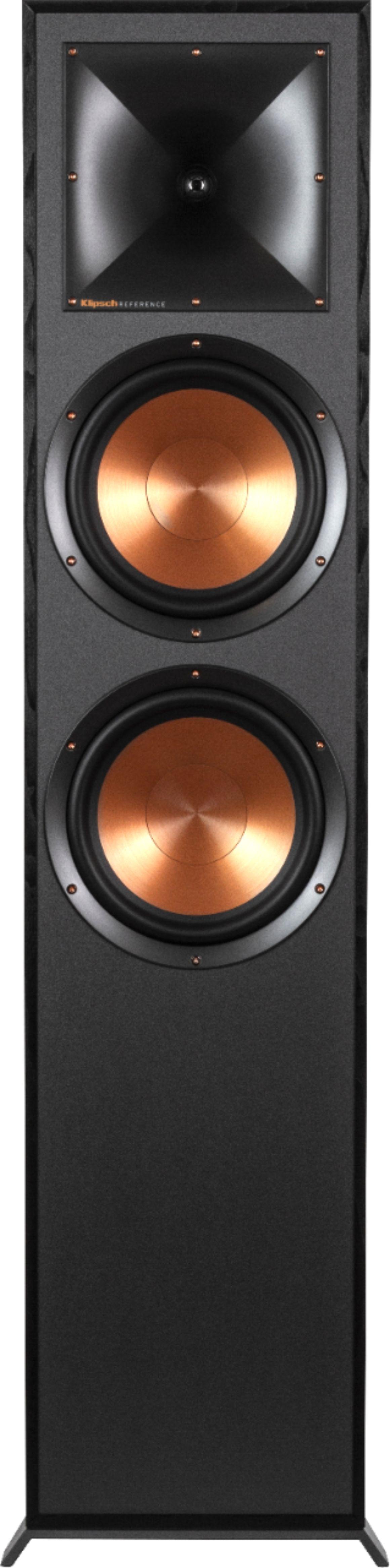 """Klipsch Reference Series Dual 8"""" 600-Watt Passive 2-Way Floor Speaker (Each) Black R-820-F"""