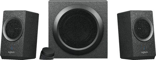 Logitech - 2.1 Bluetooth Speaker System (3-Piece) - Black