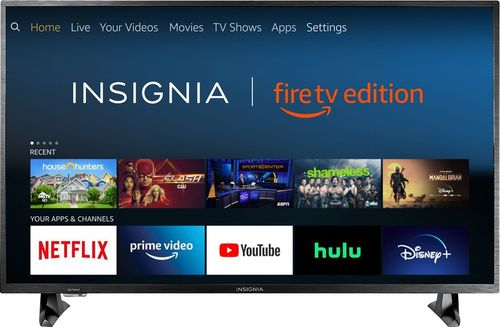"Insignia - 43"" Class – LED - 2160p – Smart - 4K UHD TV with HDR – Fire TV Edition"