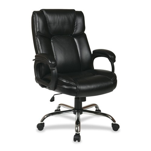 Big Mans Executive Leather Office Chair, Black