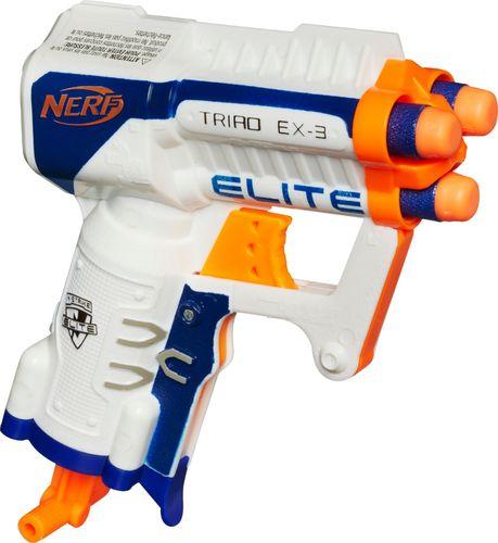 Nerf - N-Strike Elite Triad EX-3 Blaster - White And Orange