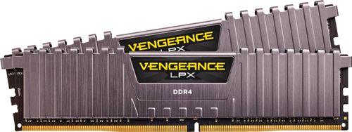 CORSAIR - Vengeance LPX 16GB (2PK 8GB) 3GHz PC4-24000 DDR4 DIMM Unbuffered Non-ECC Desktop Memory Kit - Cool Gray