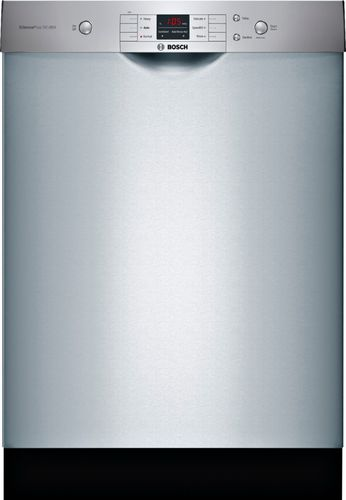Bosch 100 Series Front Control Tall Tub Dishwasher in Anti-Fingerprint Stainless Steel with Hybrid Stainless Steel Tub, 50dBA