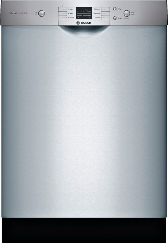 "Bosch 24"" Front Control Built-In Dishwasher with Stainless Steel Tub Stainless steel SHEM3AY55N"