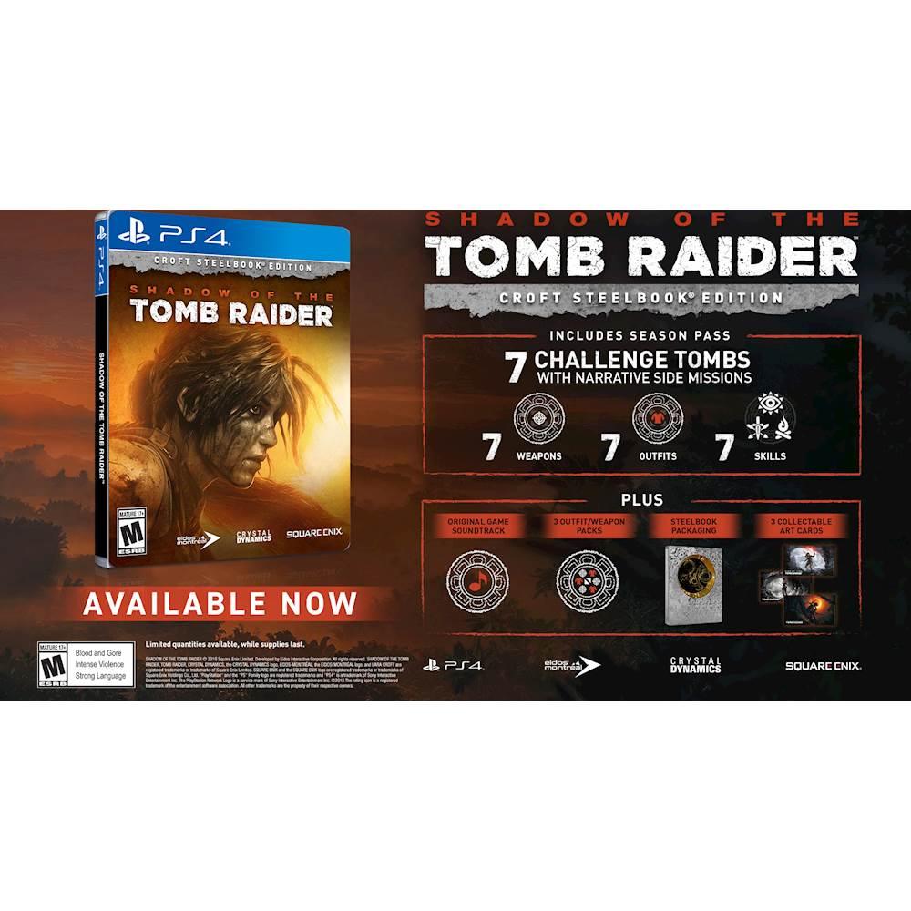 shadow of the tomb raider croft steelbook edition - xbox one