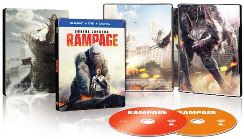 Rampage [SteelBook] [Blu-ray/DVD] [Only @ Best Buy] [2018] 6251757