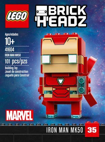 LEGO - BrickHeadz Iron Man MK50 Building Set 6252642