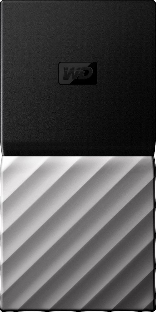 WD My Passport SSD 512GB External USB 3.1 Gen 2 Portable Solid State Drive with Hardware Encryption Black WDBKVX5120PSL-WESN
