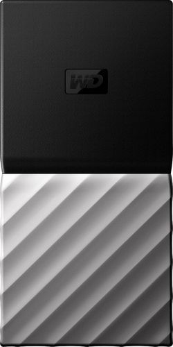 WD - My Passport SSD 2TB External USB 3.1 Gen 2 Portable Solid State Drive with Hardware Encryption - Black 6253915