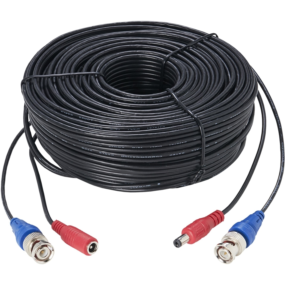 Lorex 100' 4K Ultra HD Premium Video/Power Accessory Cable Black CB100UB4K
