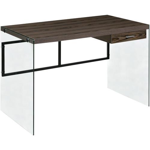 Modern Floating Desk Walnut - OneSpace
