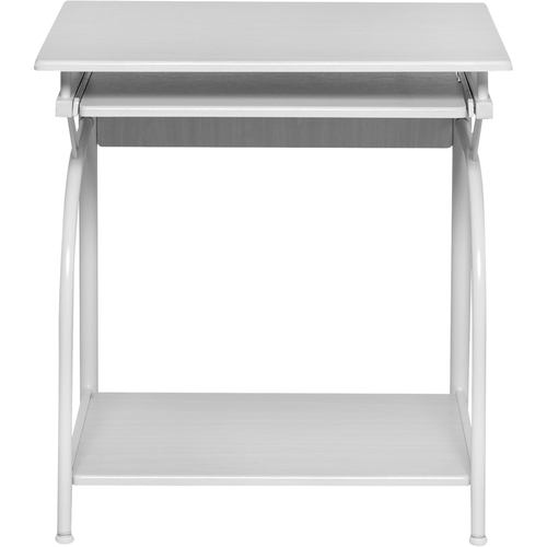 Stanton Computer Desk With Pullout Keyboard Tray White Oak - OneSpace
