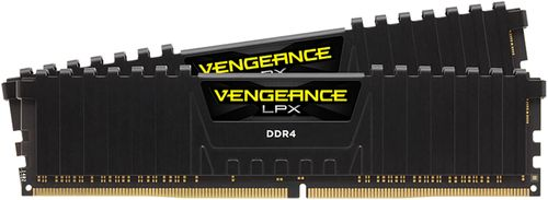 CORSAIR - Vengeance LPX 16GB (2PK 8GB) 2.133GHz PC4-17000 DDR4 DIMM Unbuffered Non-ECC Desktop Memory Kit - Black
