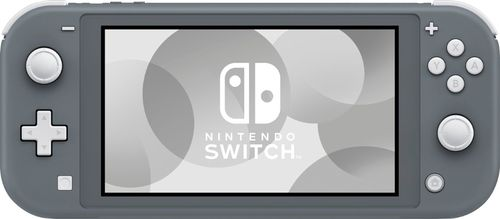 Nintendo - Switch Lite - Gray 5.5  touch-screen displayUnibody design with built-in +Control PadParental control support