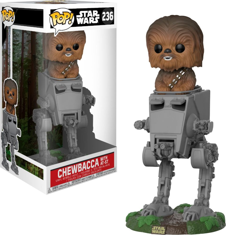 Funko Pop! Deluxe: Star Wars - Chewbacca In At-st Collectible Toy