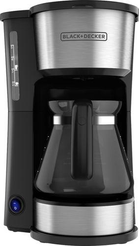 BLACK+DECKER 4-in-1 5-Cup Station Coffeemaker, Black & Silver CM0755S