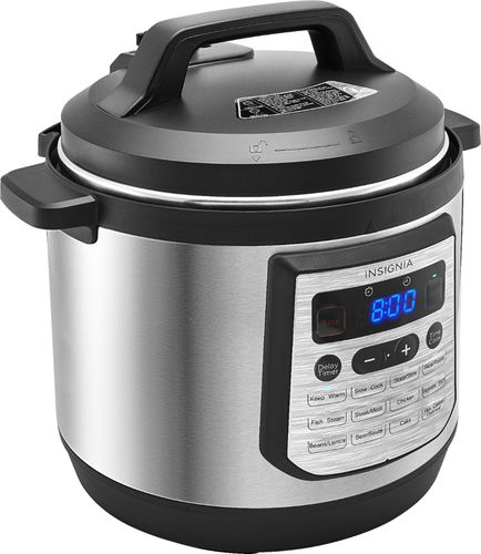 Insignia™ - 8-Quart Multi-Function Pressure Cooker - Stainless Steel