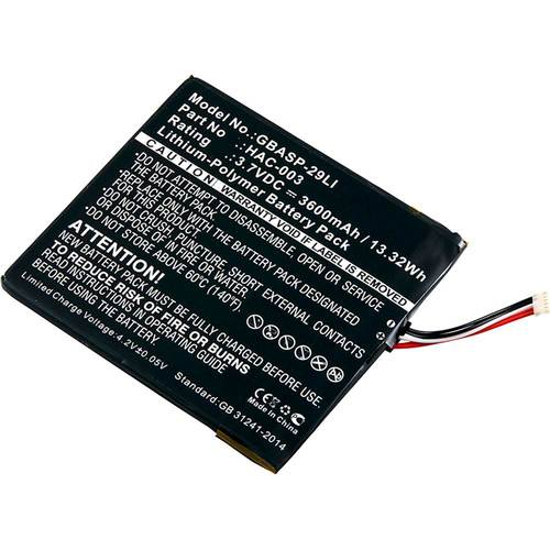 UltraLast - Lithium-Polymer Battery for Select Nintendo Video Game Consoles Compatible with Nintendo Switch video game consoles; 3.7V and 3600 mAh capacity; lithium-polymer chemistry; rechargeable design
