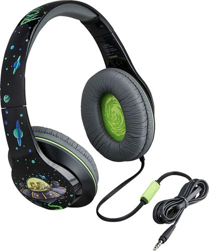 Rick and Morty Cim40Rmfxv8 Headphones Mic Black