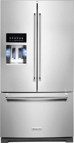 KitchenAid 27 cu. ft. French Door Refrigerator in PrintShield Stainless with Exterior Ice and Water