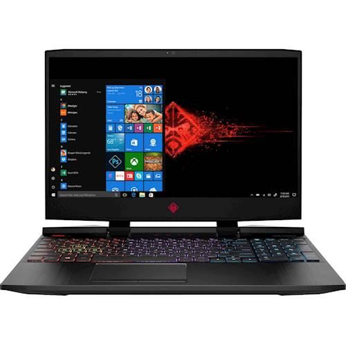 "HP - OMEN 15.6"" Laptop - Intel Core i5 - 12GB Memory - NVIDIA GeForce GTX 1050 Ti - 1TB Hard Drive + 128GB Solid State Drive - Shadow Black"